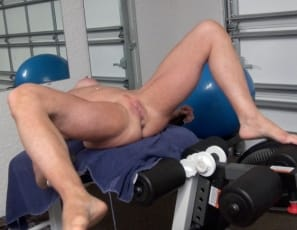 Mandy Foxx gets naked in the gym, taking off her panties and posing