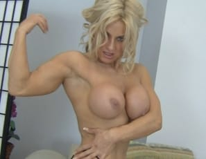 she's mature enough to know that what you really want is to look at her muscular biceps, pecs, abs