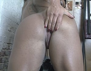 she masturbates her big clit with a toy and you watch in close-up